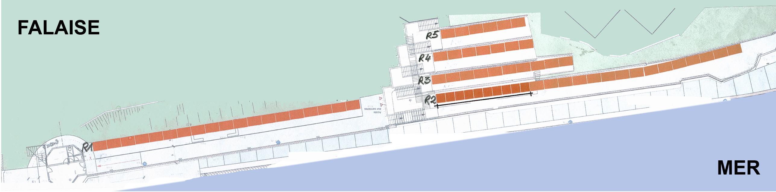 Plan cabines de plage